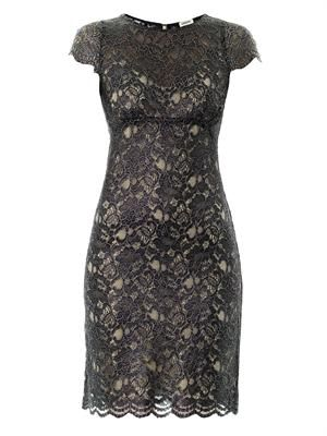 Metallic-lace dress
