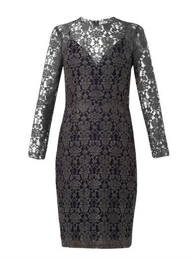 L'Agence Mesh lace dress