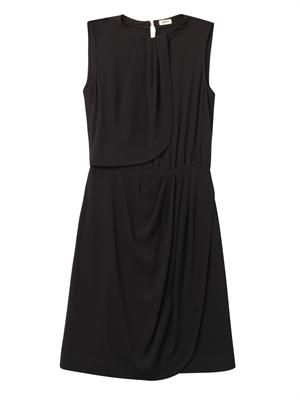 Draped technical-jersey dress