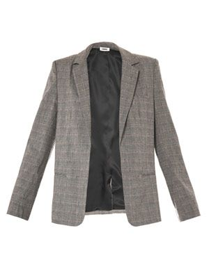 Grey orchid check jacket