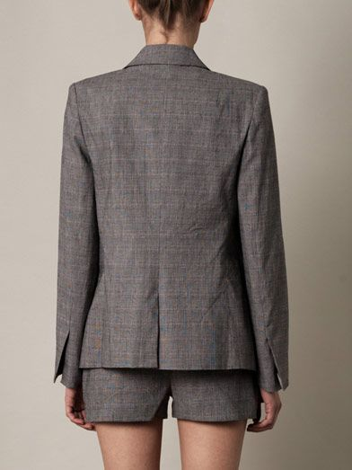 L'Agence Grey orchid check jacket