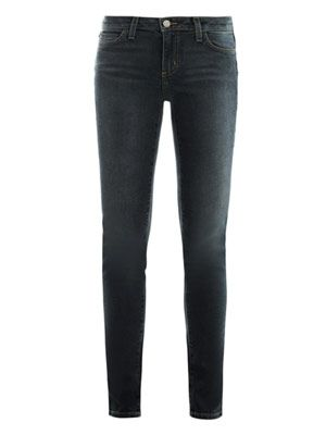 Washed low-rise skinny jeans