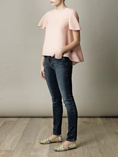 L'Agence Washed low-rise skinny jeans