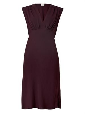 V-neck crepe dress