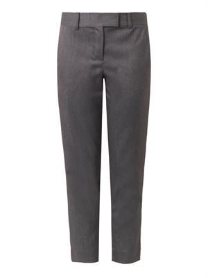 Brushed-twill high-rise trousers