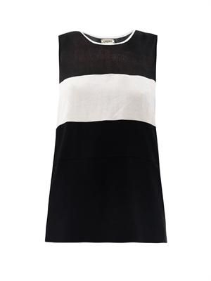 Multi-panel sleeveless top