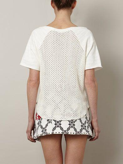 L'Agence Loop-back crochet sweatshirt