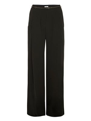 Vintage crepe long trousers