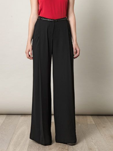L'Agence Vintage crepe long trousers