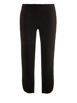 Piping detail ankle trousers