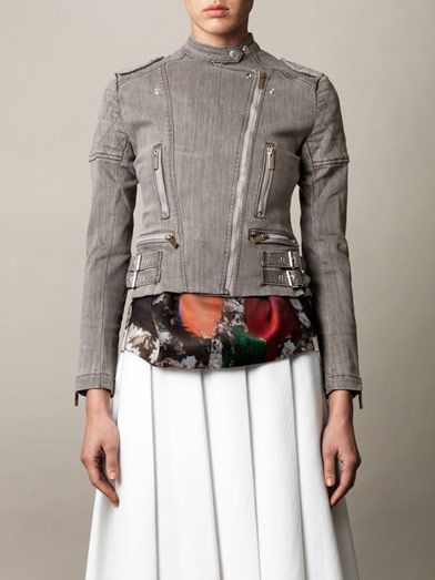 J Brand X Christopher Kane Denim biker jacket