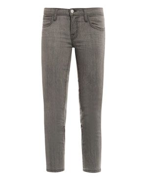Engineered low-rise skinny jeans