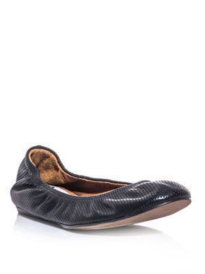 Perforated-leather ballet flats