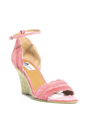 Suede scalloped-edge sandals