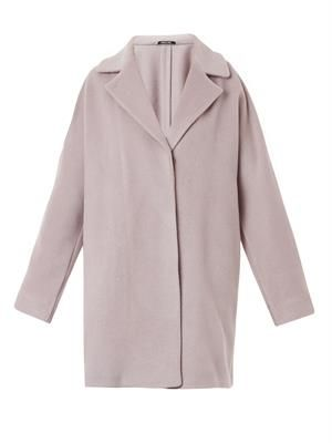 Notch-lapel wool-blend coat