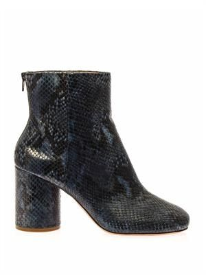Tabi snakeskin ankle boots