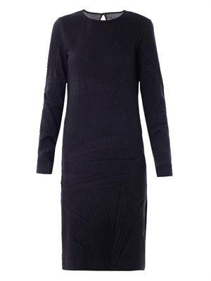 Creased wool dress
