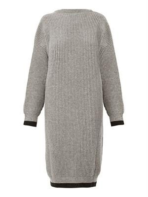 Ribbed-knit wool dress