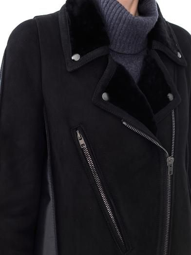 Maison Martin Margiela Shearling and leather biker jacket