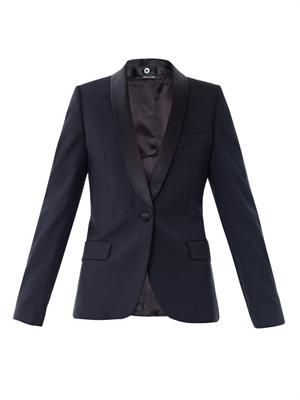 Circle jacquard wool blazer