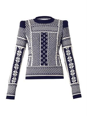 Fair Isle-knit wool sweater