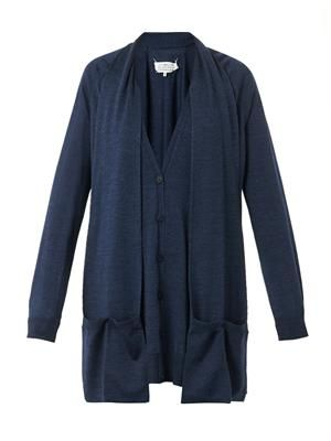 Wool and silk-blend cardigan