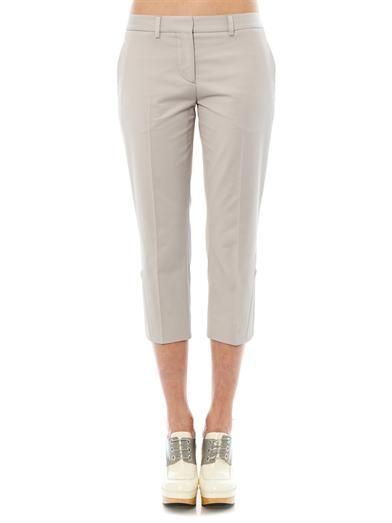 Maison Martin Margiela Cropped cotton-blend trousers