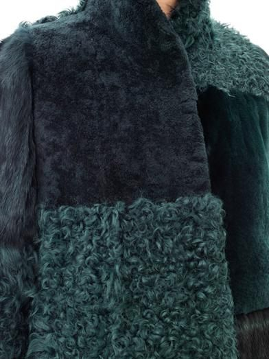 Maison Martin Margiela Multi-fur panelled coat