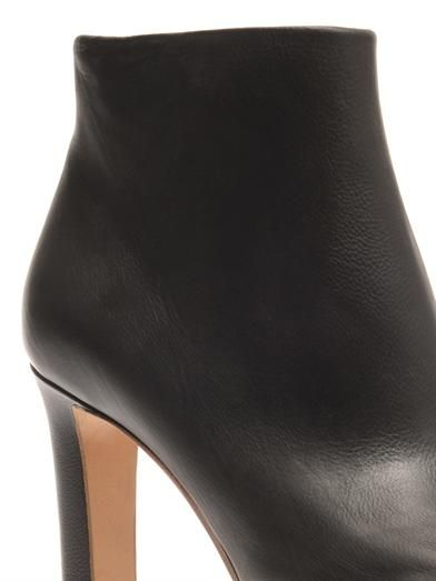 Maison Martin Margiela Contrast-edge leather ankle boots