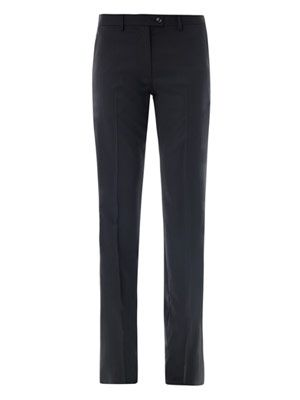 Circle jacquard wool trousers