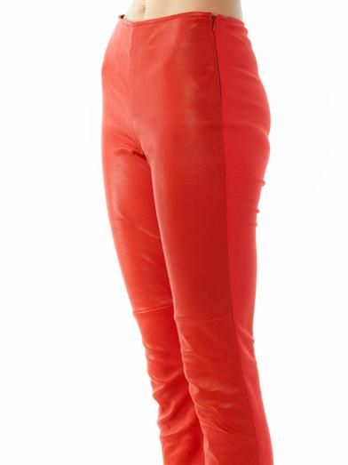 Maison Martin Margiela Leather front leggings