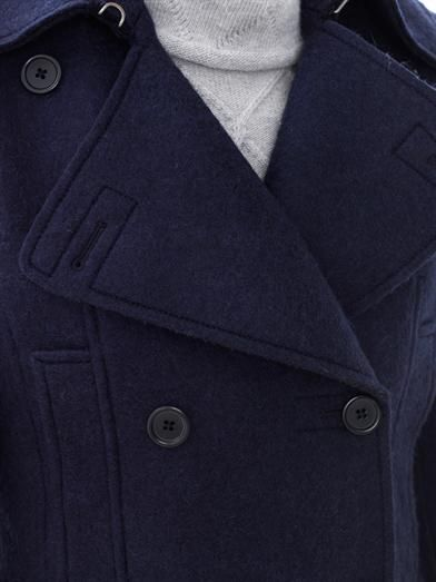 Maison Martin Margiela Boiled-wool peacoat