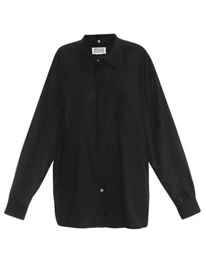 Oversized detachable collar shirt