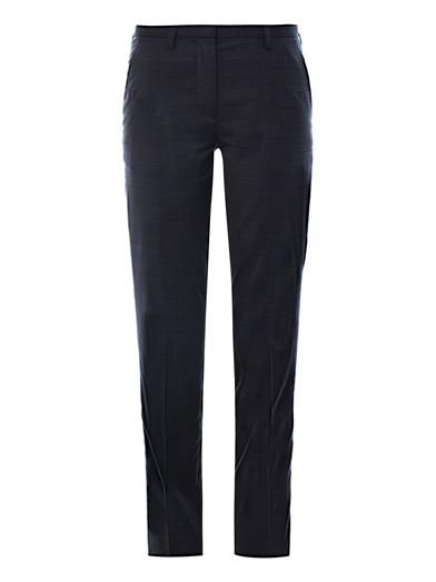 Maison Martin Margiela Check wool tailored trousers