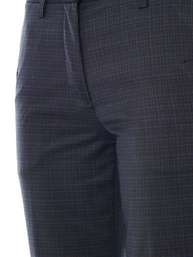 Maison Martin Margiela Check wool tailored trousers