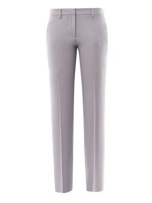 Tailored wool-crepe trousers