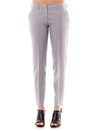 Maison Martin Margiela Tailored wool-crepe trousers