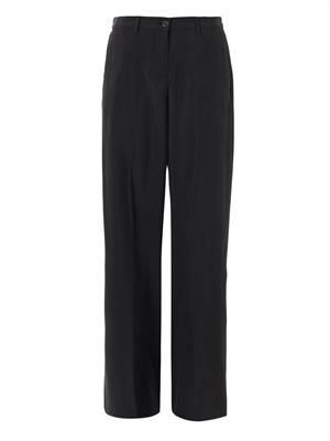 Washed silk trousers
