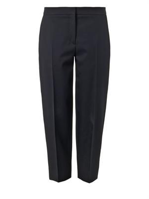 Tailored wool-twill trousers