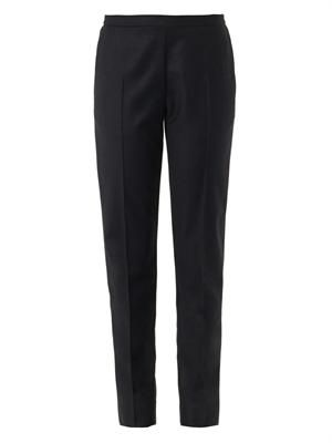 Flannel wool trousers