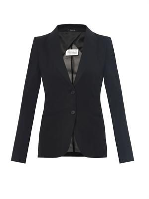 Tailored cotton-organza jacket