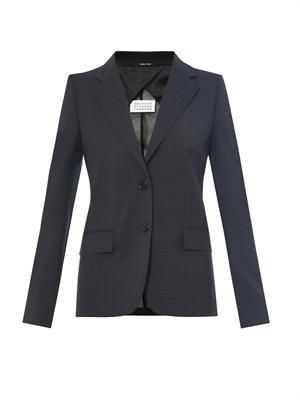 Tailored wool-crepe jacket