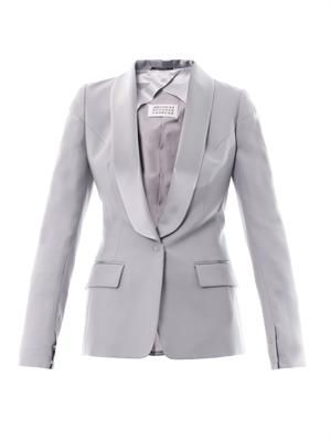 Satin-lapel wool jacket