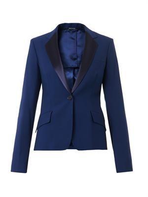 Satin-lapel blazer