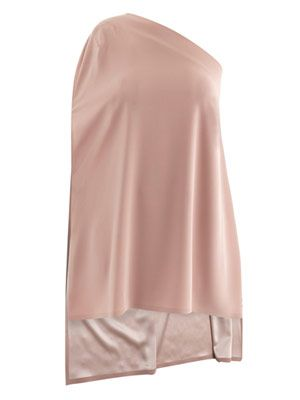 One-shoulder step-hem top