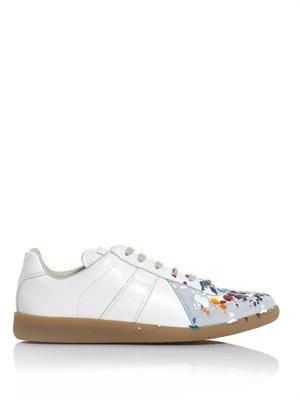 Splatter paint low top trainers
