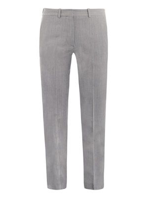 Light wool suit trousers