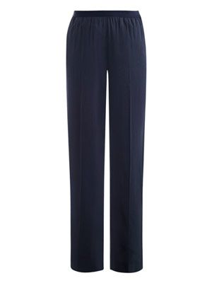 Fluid silk trousers