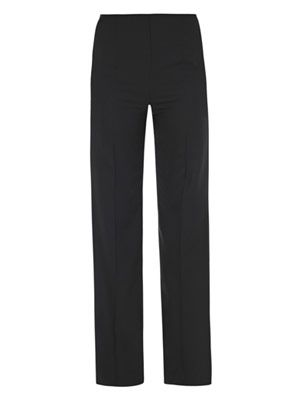 High-waisted boot-cut trousers