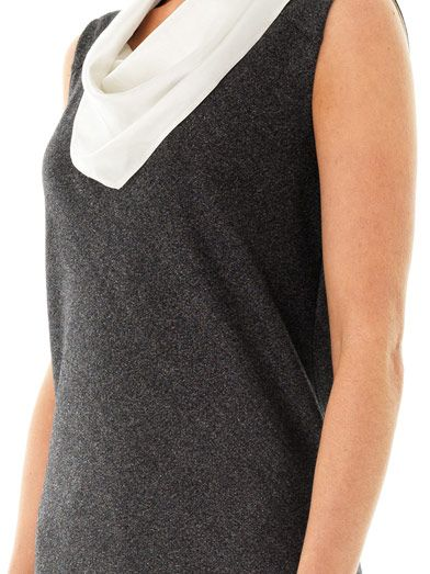 Les Chiffoniers Bandana neck-tie wool top
